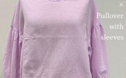 【作例】ボイルダンガリーワッシャー×ふんわり袖つきプルオーバー
