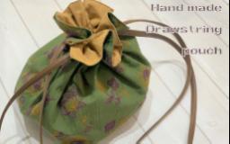 【作例】刺繍生地でつくる巾着ポシェット
