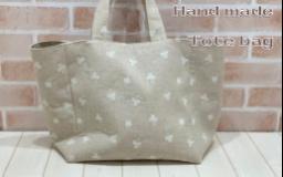 【作例】刺繍生地でつくるトートバッグ