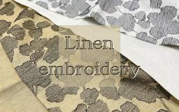 【新商品】Linen embroidery